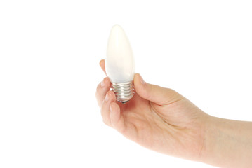 hand holding bulb