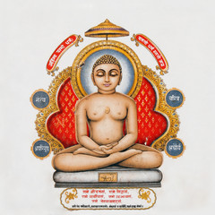 image of Buddha on antique pottery tile