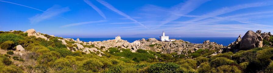 Fototapete - Leuchtturm Panorama auf Capo Testa