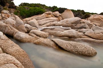 Fototapete - Küste von Capo Testa