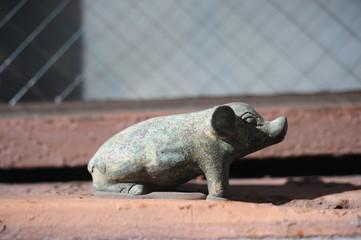 statue of  pig