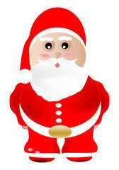 Papa Noel sobre fondo blanco