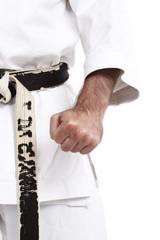 Karate, Grundhaltung, Faust, vor weiß