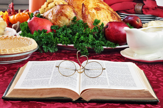 Bible and Holiday Dinner