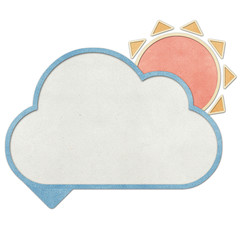 Bubble talk weather recycled papercraft background