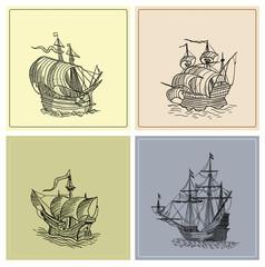 Pirate sailboats