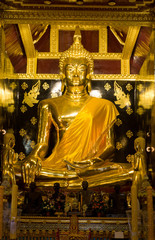 one of the most beautiful golden budha image,Thailand