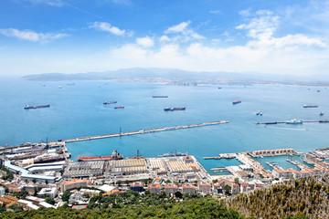 Blick auf Gibraltar und Meeresenge