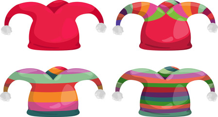 jester hat isolated vector illustration
