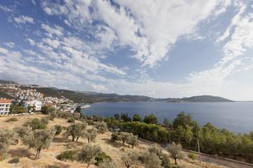 Panorama of Turkish Riviera and village Kas