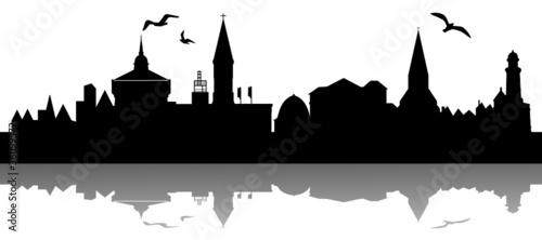 kiel skyline stockfotos und lizenzfreie vektoren auf. Black Bedroom Furniture Sets. Home Design Ideas