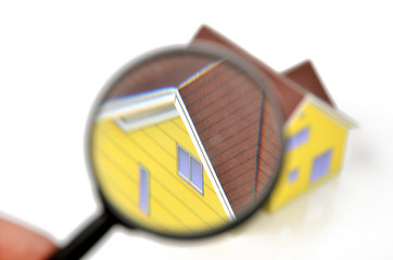 Magnifier and model house