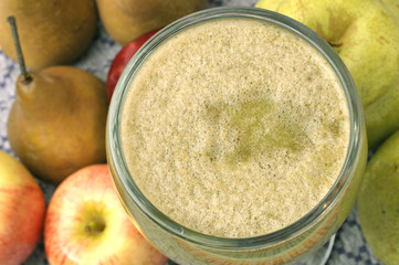 Pear and apple juice