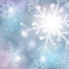 Silver abstract background with snowflake