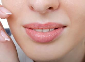 female sensual lips closeup