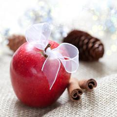 frischer Weihnachtsapfel