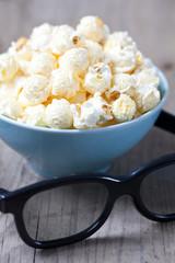 Popcorn und 3D Brille