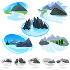 Amazing Mountain And Hills ICONs