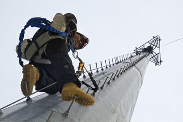 Ascending cell tower