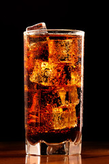 Glass of cold cola