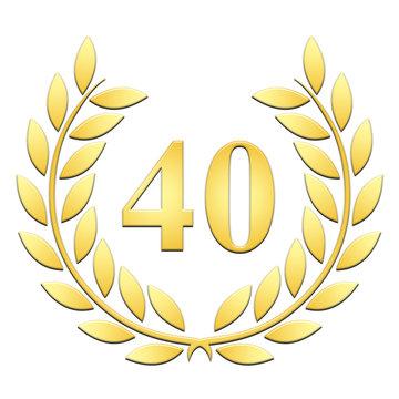 Lauriers 40 ans or en relief