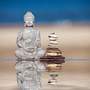Buddha im Wasserspiegel