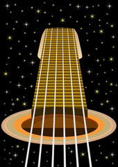 The guitar and the starry sky