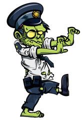 Cartoon zombie policeman