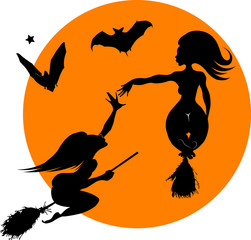 witch and bat