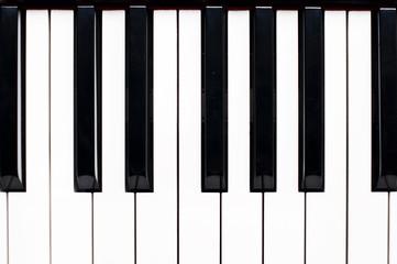 Clavier de piano, vue de dessus