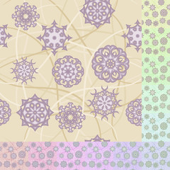 Seamless vector background with flower