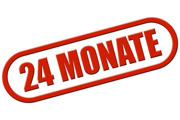 Stempel rot rel 24 MONATE