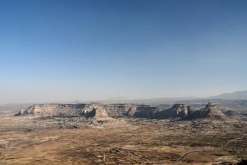 desert and mountains near sanaa yemen