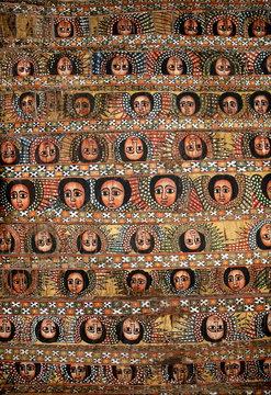 bahar bahir dar ethiopia bright colour painted church ceiling