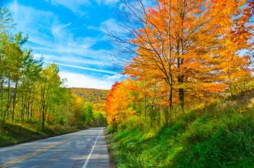 Scenic drive along Route 6 in Pennsylvania