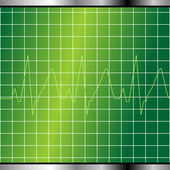 Abstract electrocardiogram monitor background with cardio beat