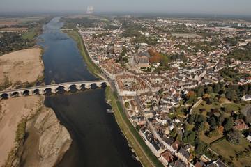 Photo aérienne de Gien 45