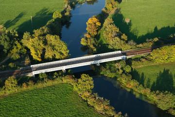 Photo aérienne pont chemin de fer Decize