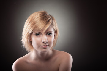 beautiful woman with blond hair
