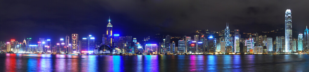 Estores personalizados con paisajes con tu foto Hong Kong Hongkong Skyline Panorama