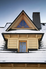 Detail of roof - Wooden Dormer
