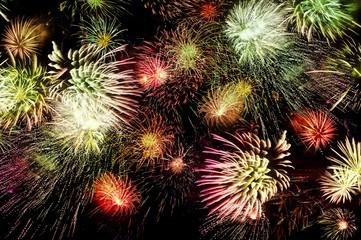 Huge sparkling firework
