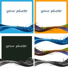 cornice fotografia con onde e cerchi