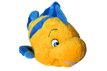 Toy yellow fish isolated