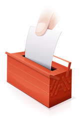 Vote pour les travaux (reflet)