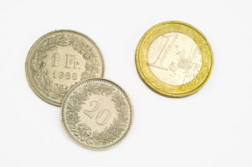 Schweizer Franken und Euro