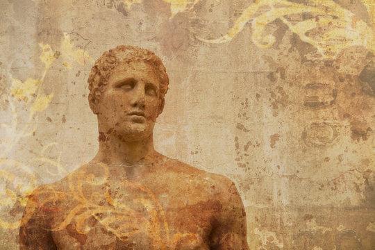 artistic view ancient greek statue