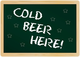 advertisement sign, cold beer