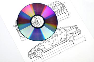 Car blueprint and DVD