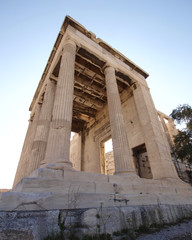 a perspective of erechtheion ancient Greek temple